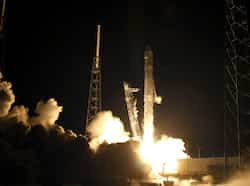 The SpaceX Falcon 9 test rocket, which is 178-foot (54-meter) tall, lifted off at 3.44am (0744 GMT) from a refurbished launch pad just south of where NASA launched its now-retired space shuttles. Reuters/Pierre DuCharme Falcon 9 blasts off