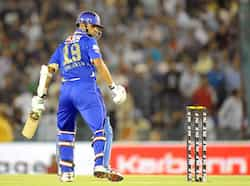 Rajasthan Royals captain Rahul Dravid looks on during the IPL Twenty20 cricket match between Kings XI Punjab and Rajasthan Royals at the Punjab Cricket Association (PCA) stadium in Mohali. AFP Photo/Raveendran Royals beat the Kings