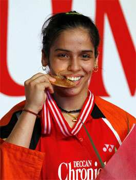 Saina Nehwal after defeating China