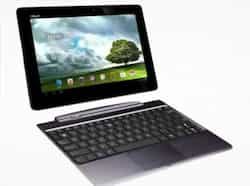 Asus Transformer Pad Infinity TF700: This latest tablet by Asus transforms into a laptop when it's connected with its QWERTY keyboard dock.  PHOTO: AFP Gadgets of the month
