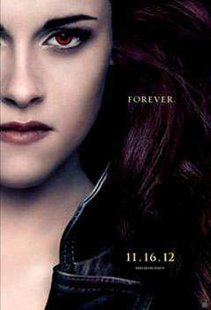 This is the first time Bella Swan is seen with the vampire eyes, just like the rest of the clan. Twilight Saga: Breaking Dawn 2