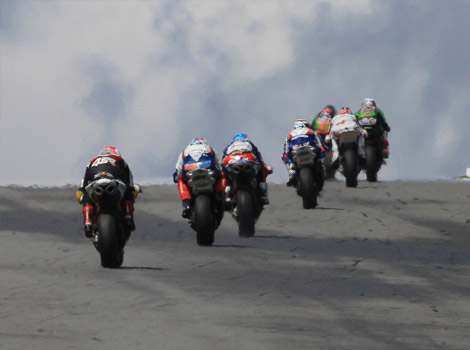 Competitors ride during the first race of the Superbike World Championship in Brno. AFP/Radek Mica Vrooming away to glory