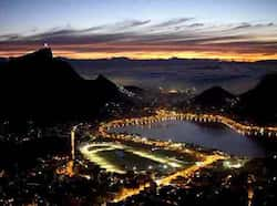 General view of Rio de Janeiro, Brazil at sunrise. The World Heritage Committee will consider the inscription of 36 sites, including Rio de Janeiro, on the UNESCO's World Heritage List during its next meeting from 24 June to 6 July, in Saint Petersburg, Russian Federation. AFP Photo / Christophe Simon  Rio de Janeiro : Snapshots