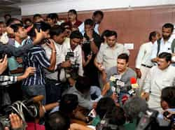 Aamir Khan addresses the media after leaving the PM