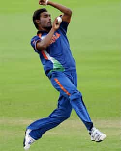 Sandeep Sharma bowls to Australia during the 2012 ICC Under-19 Cricket World Cup final in Townsville, Australia.  (AP Photo/ICC, Ian Hitchcock) India U-19 World champs