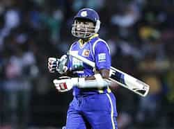 Sri Lankan captain Mahela Jayawardene reacts as he walks off the field after his dismissal during the Twenty20 match against India in Pallekele. Reuters/Dinuka Liyanawatte Twenty20: India beat Sri Lanka