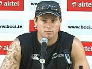 New Zealand cricketer Doug Bracewell is all braced up to face India in the second Test.