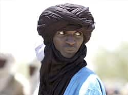 A Tuareg herdsman looks at livestock at the market in Bermo, Niger, 200 kms north of Maradi. AP/Jerome Delay Day in pics