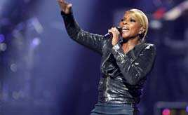 Singer Mary J Blige performs during second day of the 2012 iHeartRadio Music Festival at the MGM Grand Garden Arena in Las Vegas, Nevada. Reuters/Steve Marcus Sept 23: Day in pics