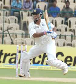 MS Dhoni in action against New Zealand during the 3rd day of second Test match in Bangalore. 2nd Test, Day 3: India vs NZ