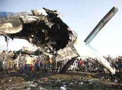 The wreckage of a Dornier aircraft, owned by private firm Sita Air, is seen at the crash site in Kathmandu. Reuters/Navesh Chitrakar  Nepal plane crash