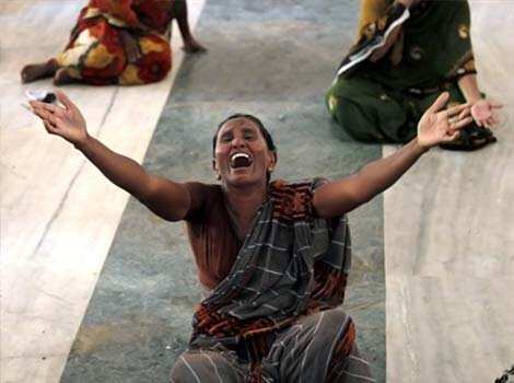 Woman wails during a protest against the Kudankulam Atomic Power Project, near the project site. Anti Kudankulam protestors slammed safety report, charging it with hiding crucial information from people. (AP Photo/Rafiq Maqbool) Flash point: Kudankulam