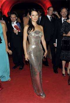 Lucy Liu arrives at the 64th Primetime Emmy Awards Governors Ball in Los Angeles. AP/Chris Pizzello Day in pics