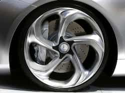 A Mercedes Benz logo is seen on a wheel of a Concept Style Coupe on media day at the Paris Mondial de lAutomobile. Reuters/Jacky Naegelen The beautiful beast
