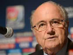 FIFA president Sepp Blatter speaks during a press conference at the end of the FIFA U-20 Women