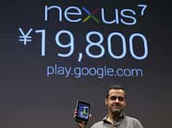 Director of Product Management at Google Hugo Barra shows the Nexus 7 tablet at a promotional event for the device, in Tokyo. (Reuters/Kim Kyung-Hoon) Google Nexus 7 is here