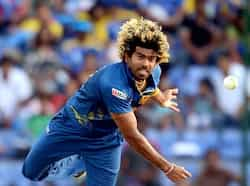 Sri Lanka bowler Lasith Malinga bowls during the ICC Twenty20 Cricket World Cup