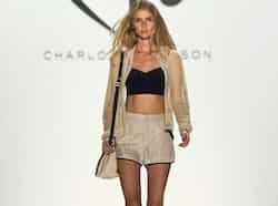 A model presents a creation from the Charlotte Ronson Spring/Summer 2013 collection during New York Fashion Week. (Reuters) Sept 8: Day in pics