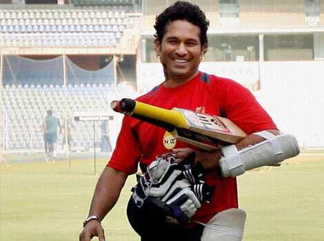 Sachin Tendulkar carries his bat and gloves during a practice session at the Wankhede Stadium in Mumbai. PTI/Santosh Hirlekar Jan 5: day in pics
