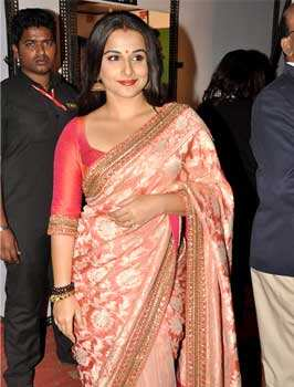 Bollywood actor Vidya Balan arrives at Umang 2013. Mumbai Police