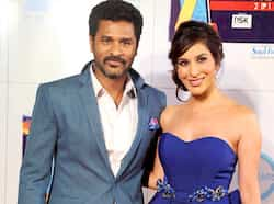 Prabhu Deva with actress Sophie Chaudhary at the Zee Cine Awards 2013 in Mumbai. (PTI Photo) Bollywood glitters at Zee Cine Awards