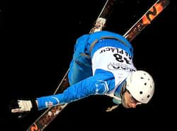 Harry Gillam #38 of Great Britain jumps in the USANA Freestyle World Cup aerial competition at the Lake Placid Olympic Jumping Complex in Lake Placid, New York. AFP Jan 19: Day in pics