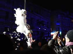 "An artist from the Studio de Cirque company performs during ""Place des Anges"" at the Cours d"