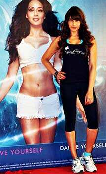 Bipasha Basu had been busy promoting her DVD even on her birthday. FIT