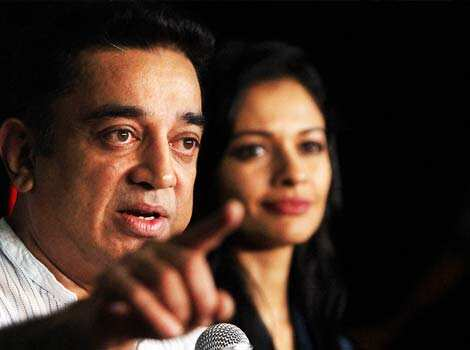 Kamal Haasan with actress Pooja Kumar addresses a press conference in Mumbai on Thursday. (PTI Photo) KAMAL HAASAN MOODS: from hurt to relaxed