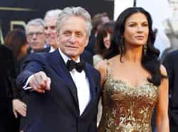 Catherine Zeta Jones and Michael Douglas arrive at the 85th Academy Awards in Hollywood, California February 24, 2013.  Reuters Photo THE OSCARS: divas go strapless