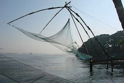 Chinese Fishing nets Fort Cochin Photo by Ajit Eusebius Kerala