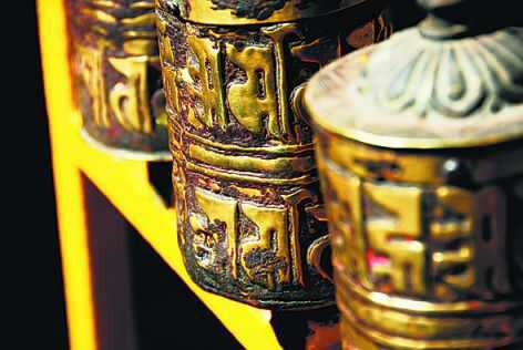 Spinning a prayer wheel is said to have the same benefits as saying a prayer. Photos: Madhu Reddy - see story  kathmandu