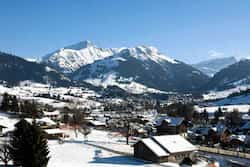 Gstaad in Switzerland cost £390.29 (€463.29) Photo: AFP European ski destinations