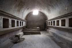 Italy, Pompeti : This picture shows a view inside the Thermae Stabianae, the baths restored and reopened after a two-year work at the archeological site of Pompeii.  Photo: AFP / Carlo Hermann Photos: Top 10 destinations for spring
