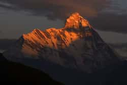 Last rays of the sun on Nanda Devi, India