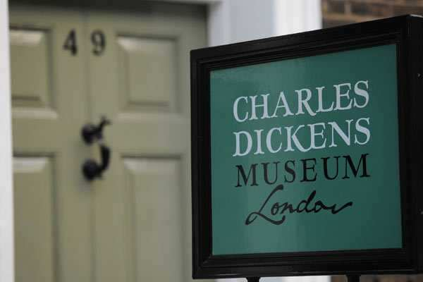 The Charles Dickens Museum is based at 48 Doughty Street, the author