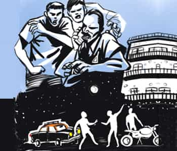 mumbai cabbie abducted for nudging bikers flees after they forget to lock hi. Black Bedroom Furniture Sets. Home Design Ideas