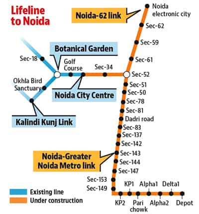 Noida-Greater Noida Metro link to become operational in