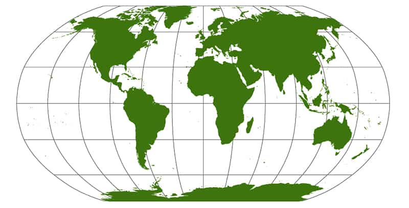 New world map depicts continents true to their actual size | world ...